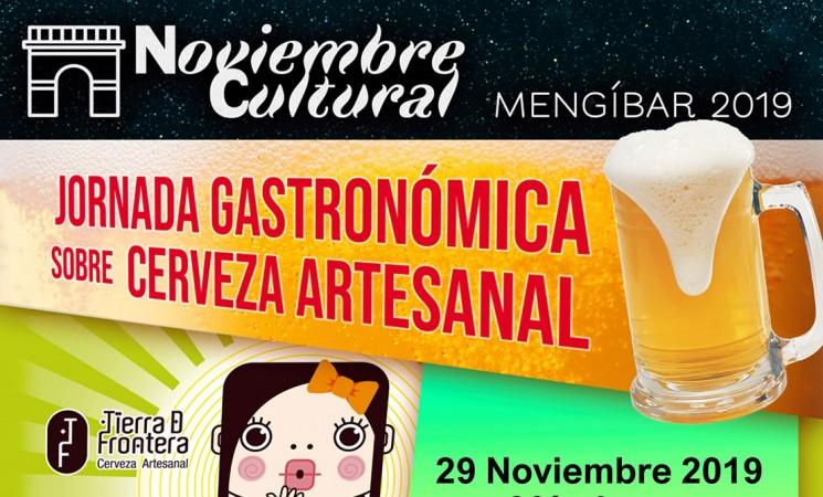 Jornada gastronómica sobre cerveza artesanal en la Casa de la Cultura de Mengíbar, el próximo 29 de noviembre de 2019