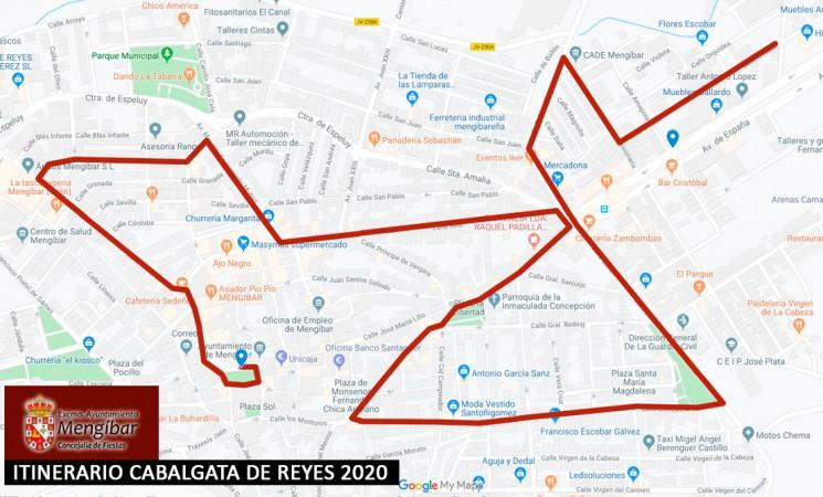 Itinerario de la Cabalgata de Reyes de Mengíbar 2020