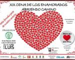 La XIX Cena de los Enamorados de Abriendo Camino de Mengíbar será el próximo 15 de febrero de 2020