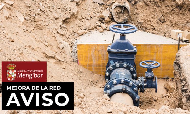 Interrupción temporal del suministro de agua por obras de mejora en diversas calles de Mengíbar el lunes 3 de agosto de 2020