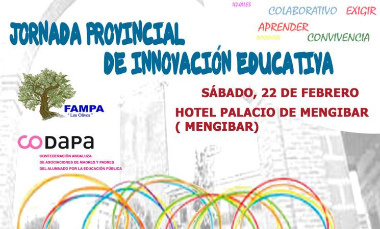 Jornada Provincial de Innovación Educativa en la Casa Palacio de Mengíbar, el próximo 22 de febrero de 2020