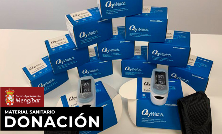 Coronavirus: El Ayuntamiento de Mengíbar dona 12 medidores de saturación de oxígeno al Complejo Hospitalario de Jaén