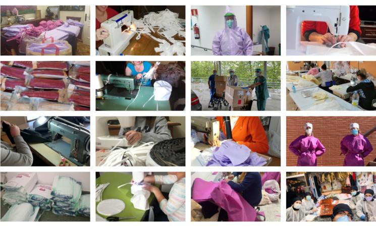 Coronavirus: Las Amas de Casa de Mengíbar confeccionan más de 2.500 mascarillas y otras 340 protecciones contra el COVID-19 con material donado por el Ayuntamiento