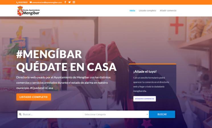 Coronavirus: Ampliación de la web de comercios de Mengíbar para peluquerías y bares y restaurantes con servicio a domicilio