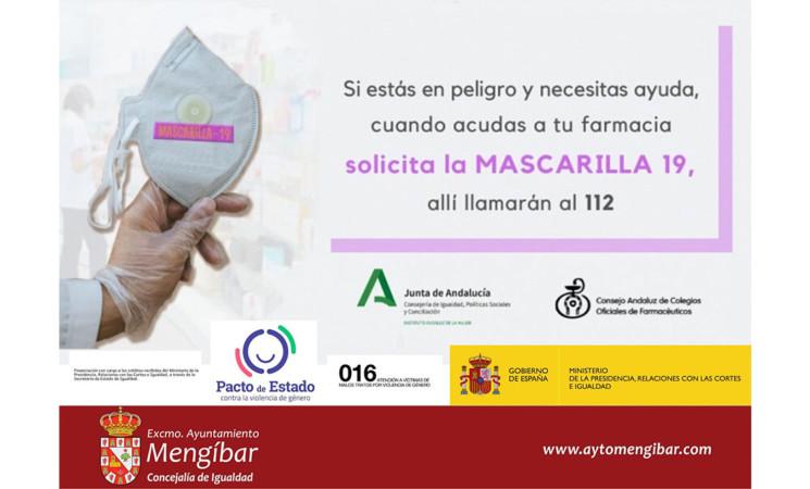 """Si eres víctima de género, pide en tu farmacia la """"Mascarilla 19"""""""
