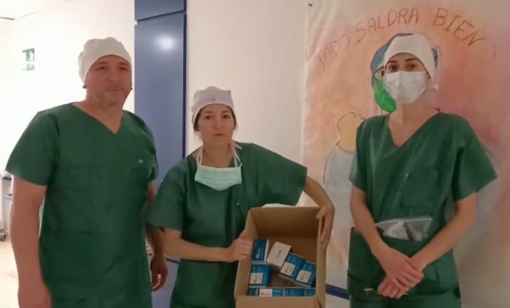 Coronavirus: Agradecimiento de sanitarios del Hospital de Jaén por la donación de oxímetros realizada por el Ayuntamiento de Mengíbar