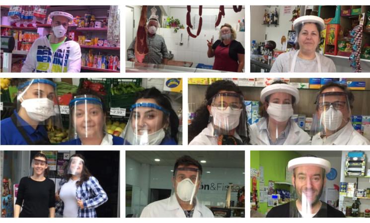 Coronavirus: El Ayuntamiento de Mengíbar entrega pantallas protectoras a los comercios abiertos al público durante el estado de alarma