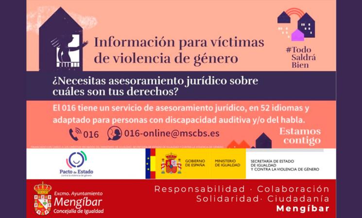 Coronavirus: Refuerzo de los recursos para las víctimas de violencia de género: asesoramiento jurídico