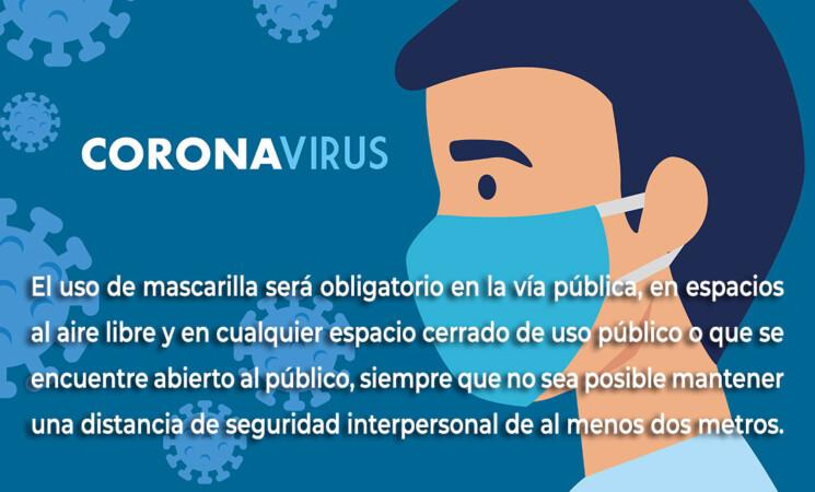Coronavirus: Uso obligatorio de mascarilla en espacios públicos