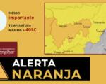 Alerta naranja (riesgo importante) por altas temperaturas este lunes y martes (29 y 30 de junio de 2020) en Mengíbar