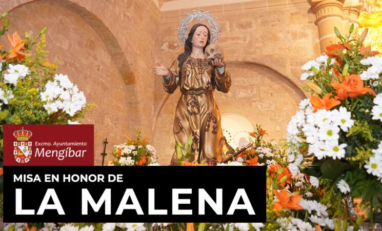 Misa en honor de Santa María Magdalena, patrona de Mengíbar, este miércoles, 22 de julio de 2020, a través del Facebook del Ayuntamiento