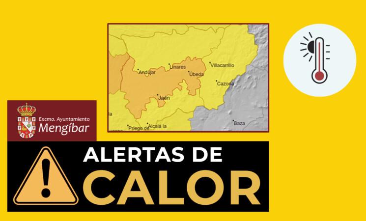 Aviso: Alerta naranja por altas temperaturas en Mengíbar durante el fin de semana del 24 al 26 de julio de 2020