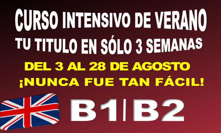 Curso intensivo de B1 y B2 de inglés en verano, del 3 al 28 de agosto de 2020, en Mengíbar