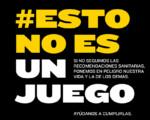 Coronavirus: Nueva campaña #EstoNoEsUnJuego