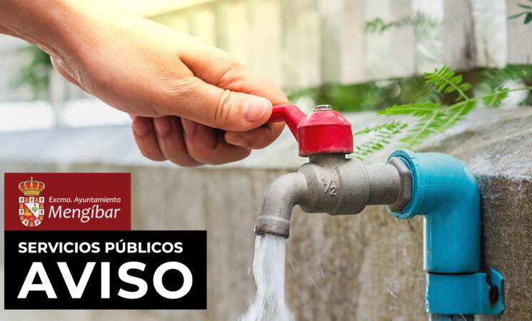 Aviso: Corte de agua por avería en varias calles de Mengíbar (30/10/2020)