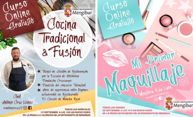 Cursos online de maquillaje y cocina durante el mes de septiembre desde el Facebook del Ayuntamiento de Mengíbar