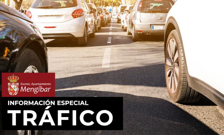 Aviso: Restricciones de tráfico en el Paseo de España de Mengíbar del 30 de noviembre al 5 de diciembre de 2020