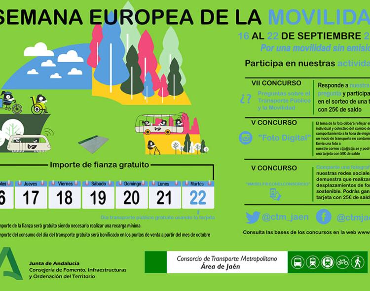 Semana Europea de la Movilidad, del 16 al 22 de septiembre de 2020