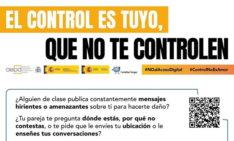 Mengíbar contra el acoso digital: Campaña 'El control es tuyo, que no te controlen'