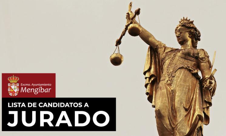 Lista definitiva de candidatos a jurado de Mengíbar hasta el 31 de diciembre de 2022