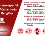 Horario especial y medidas anti COVID-19 del Cementerio de Mengíbar por los días de Todos los Santos y Fieles Difuntos 2020