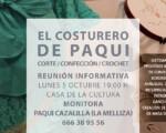 Nuevo Taller Municipal de Corte, Confección y Crochet de Mengíbar (curso 2020/2021)