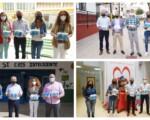 El Ayuntamiento de Mengíbar reparte 2.000 mascarillas reutilizables para todo el alumnado y profesorado de los tres colegios y el instituto del municipio