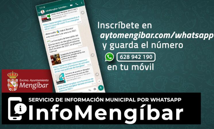 InfoMengíbar - Servicio de información del Ayuntamiento de Mengíbar a través de Whatsapp