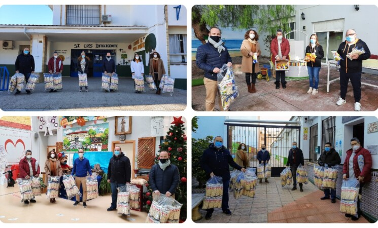 Palomitas por San Antón para el alumnado de los colegios y el centro ocupacional de Mengíbar