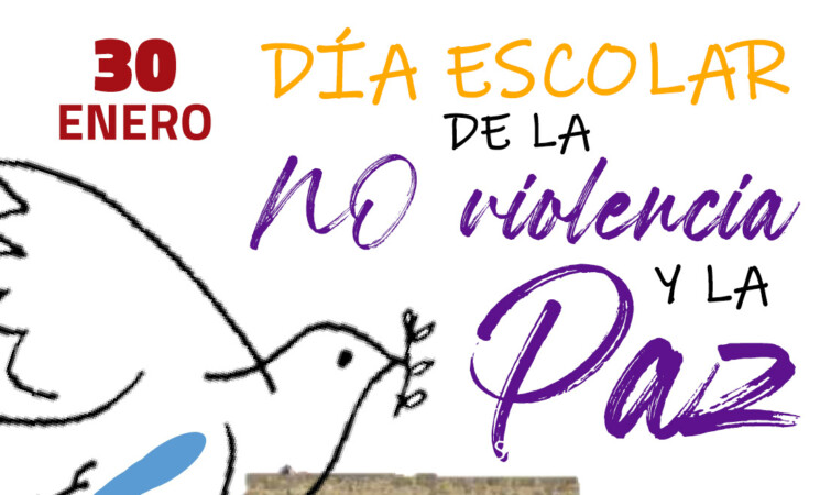 Cartel del Día Escolar de la No Violencia y la Paz (DENIP) 2021 en Mengíbar