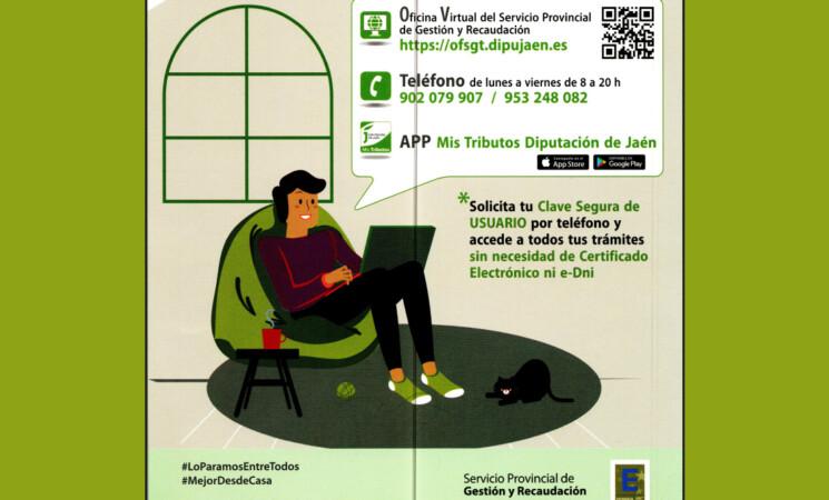 Nuevos canales de comunicación del Servicio Provincial de Gestión y Recaudación de la Diputación Provincial de Jaén