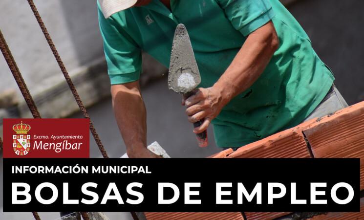 Lista provisional de aspirantes admitidos y excluidos en las bolsas de albañilería, pintores y electricistas del Ayuntamiento de Mengíbar