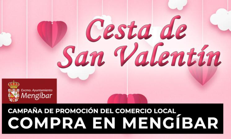Cesta del Comercio de Mengíbar por San Valentín: premio de 1.000 euros entre la clientela que compre en establecimientos locales