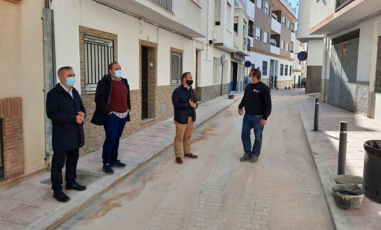 Concluyen las obras de mejora de la calle Maestro Francisco Hortal realizadas por el Ayuntamiento de Mengíbar