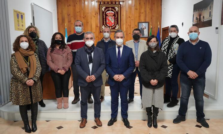Visita institucional del consejero de Fomento de la Junta de Andalucía al Ayuntamiento de Mengíbar