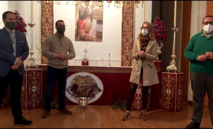 Inauguración de la exposición de enseres de la Cofradía de la Oración en el Huerto de Mengíbar (vídeo)