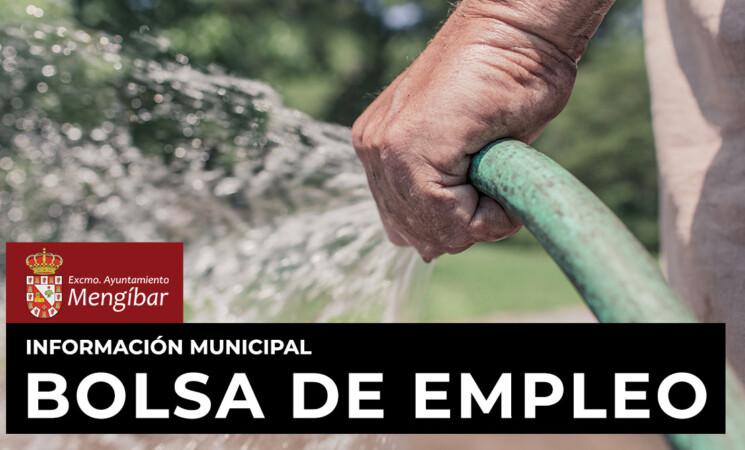 El Ayuntamiento de Mengíbar crea nuevas bolsas de trabajo para peones de jardinería y limpieza