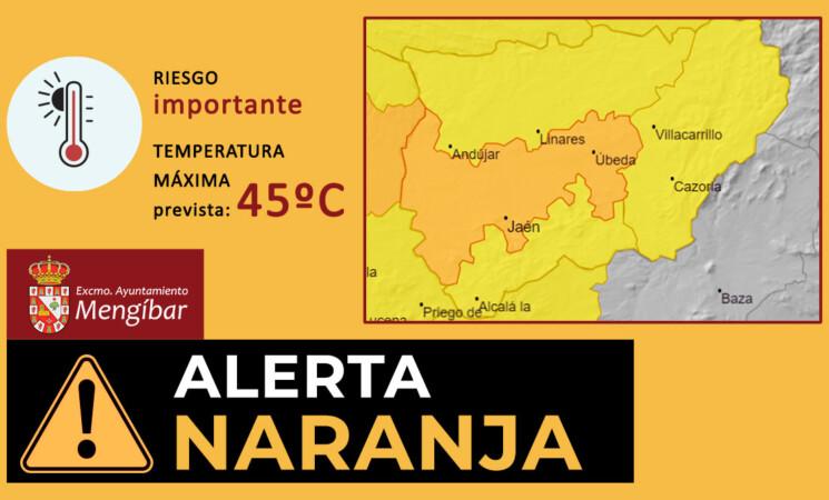 Alertas por altas temperaturas, de hasta 45 grados, en Mengíbar del 9 al 11 de julio de 2021