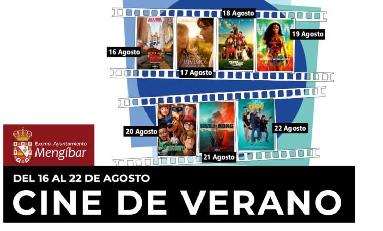 El cine de verano regresará a Mengíbar del 16 al 22 de agosto de 2021