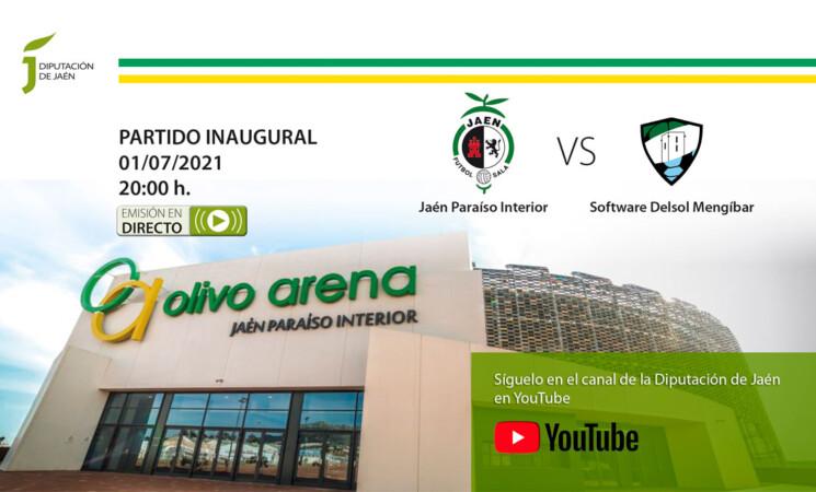 El Software Delsol Mengíbar FS juega hoy (20:00) el partido inaugural del Palacio de Deportes Olivo Arena que se podrá seguir desde internet (enlace)