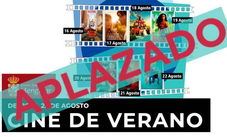 La Concejalía de Cultura del Ayuntamiento de Mengíbar anuncia el aplazamiento para los días del 2 al 8 de septiembre del Cine de Verano.