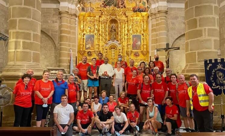 Peregrinos de Totana (Murcia) pasan por Mengíbar dentro del Camino Eulaliense