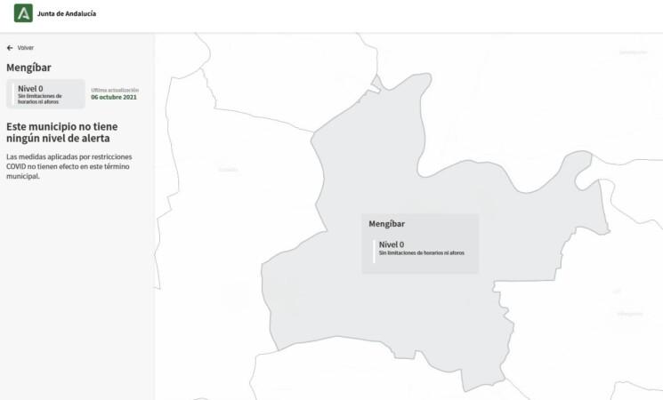 Mengíbar en nivel 0 de alerta sanitaria por COVID-19